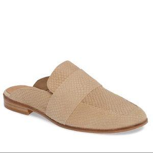 Free people tan beige mule shoes 7 37